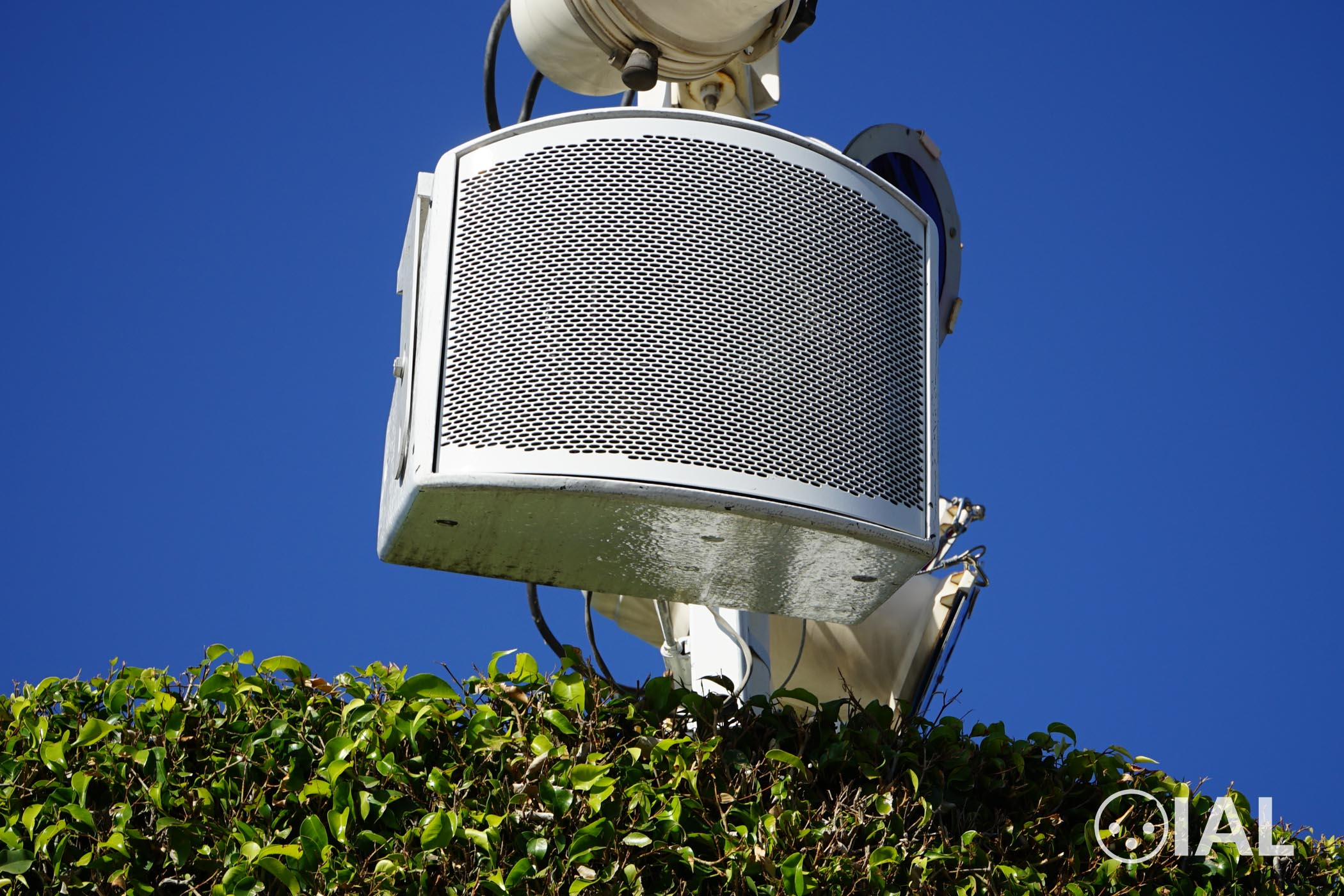 Pictured is a Fulcrum Acoustic CX Series speaker at Disneyland.