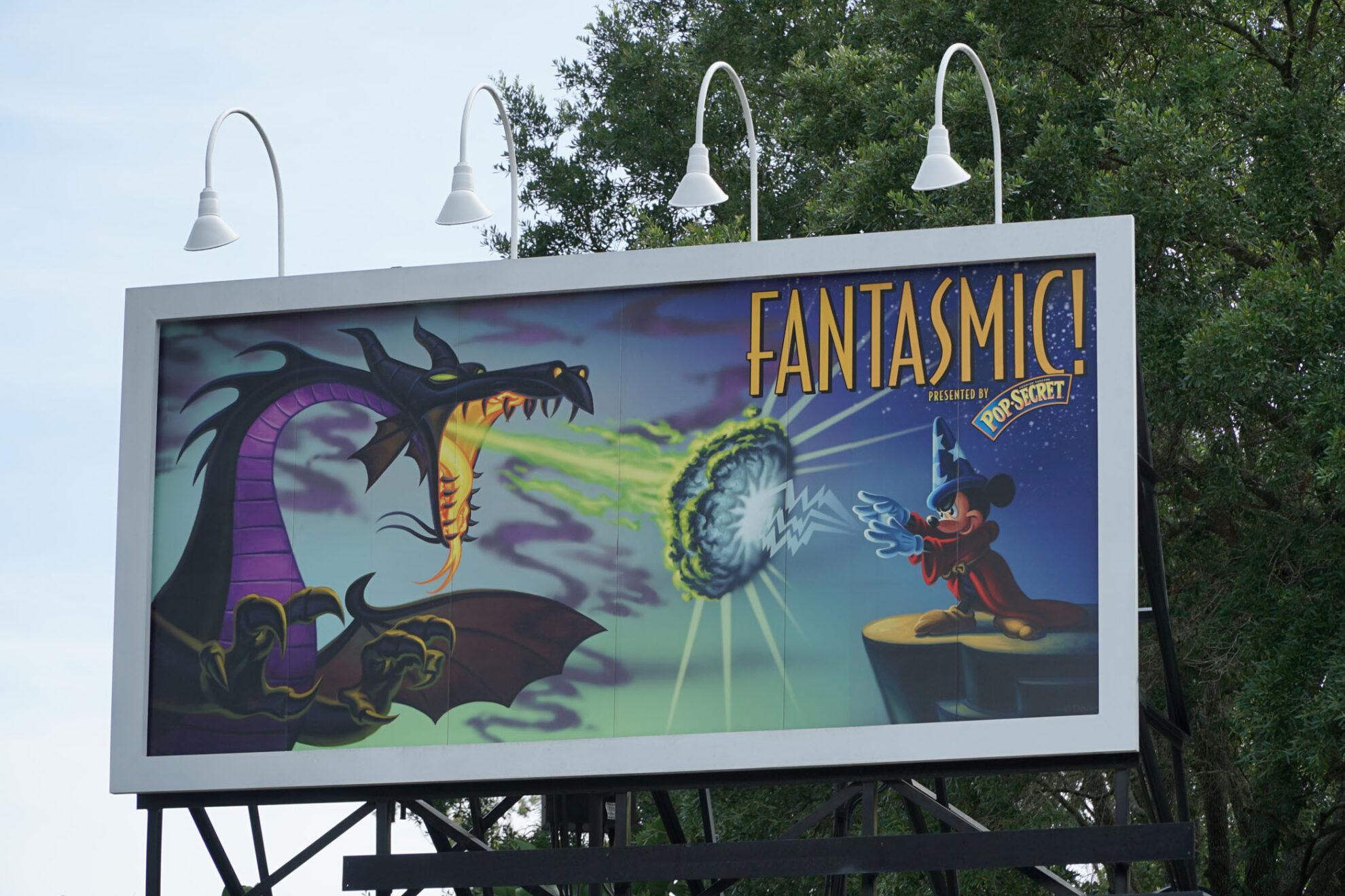 The entrance sign for Fantasmic!