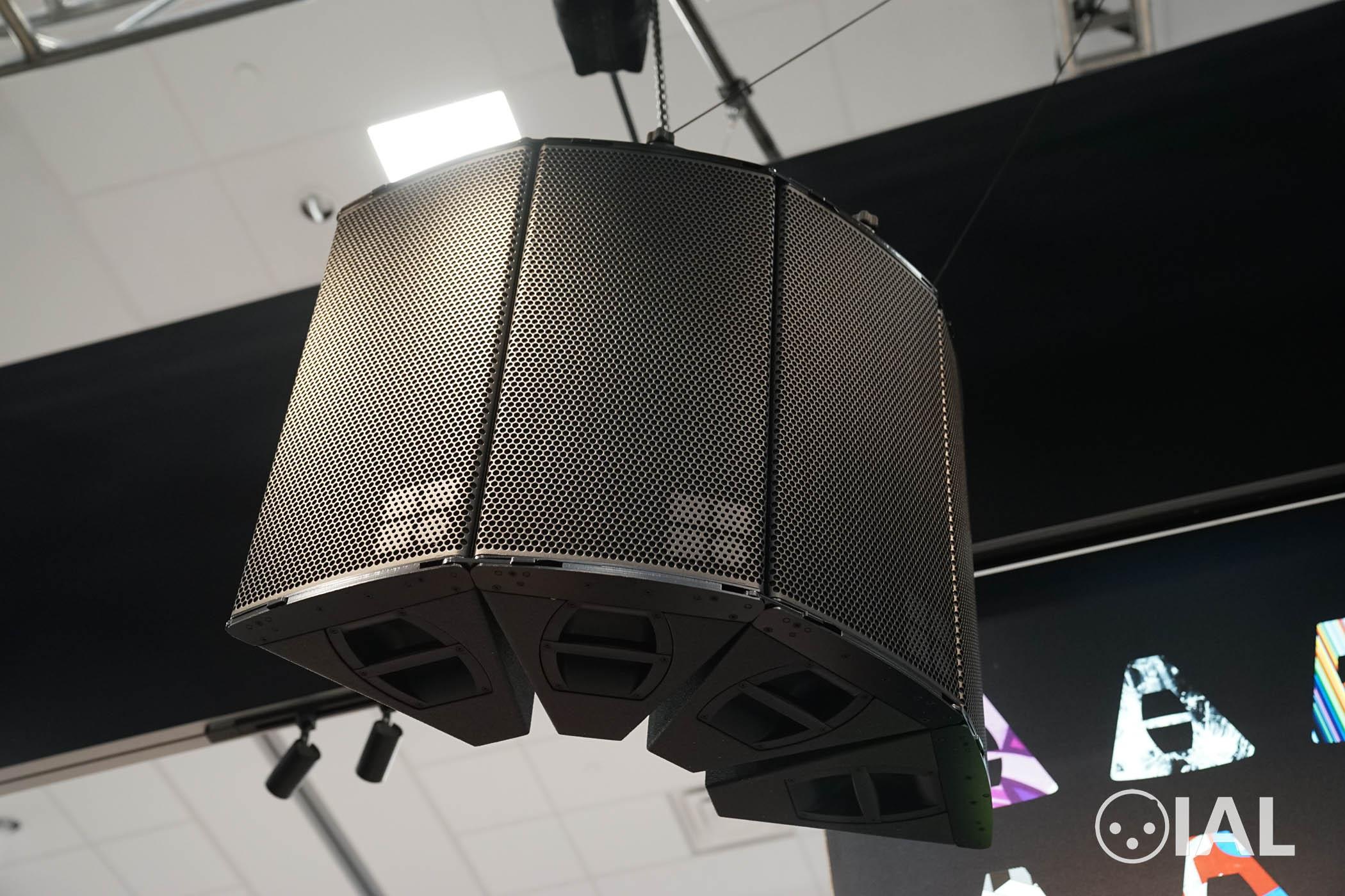A horizontal array of d&b audiotechnik A-Series