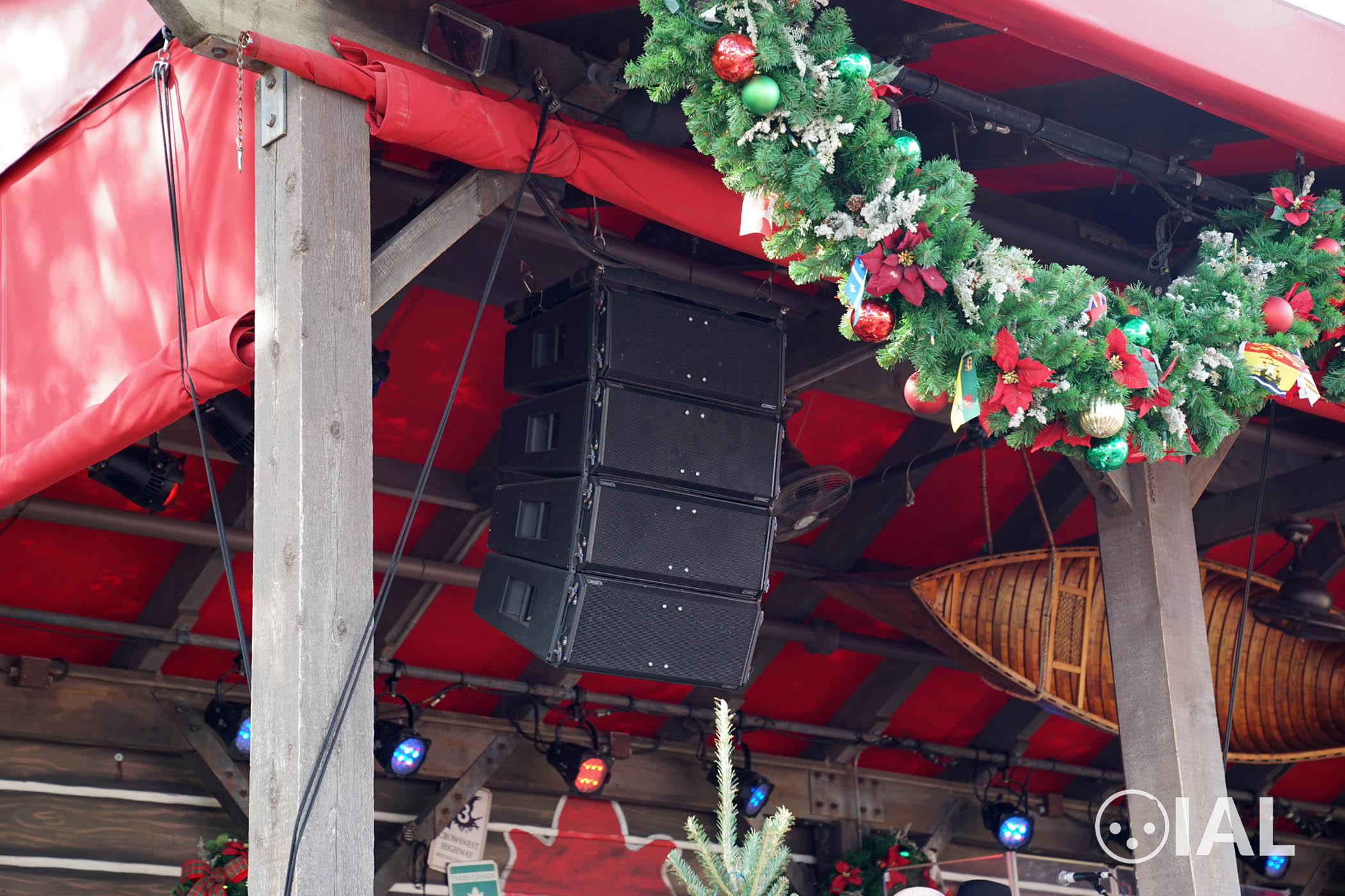 Here's a QSC Wideline line array at Epcot