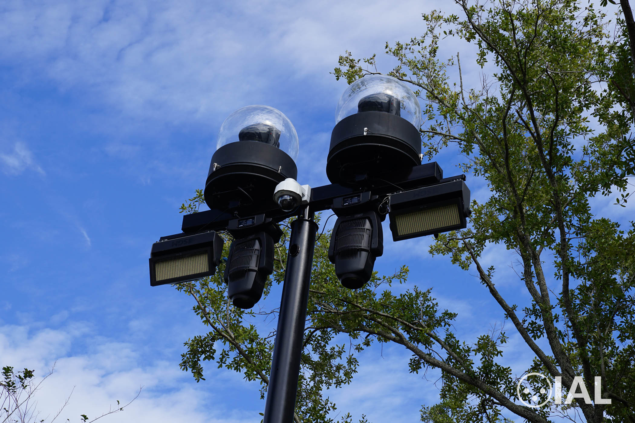 Several lighting fixtures from Claypaky, SGM and Elation at Universal Studios Florida