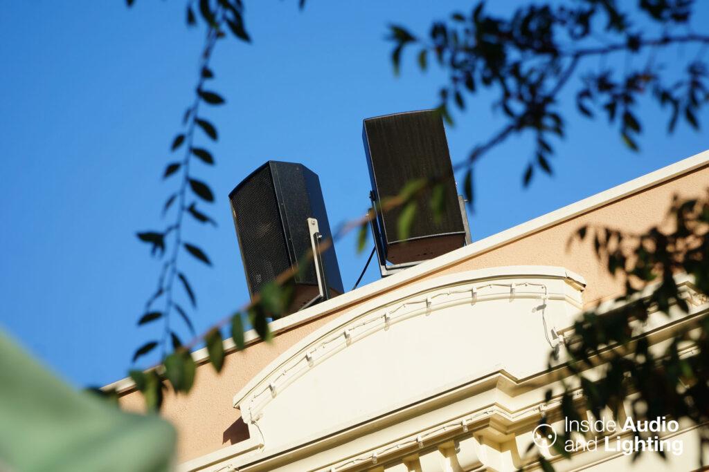 Two speakers from d&b audiotechnik's Ci Series
