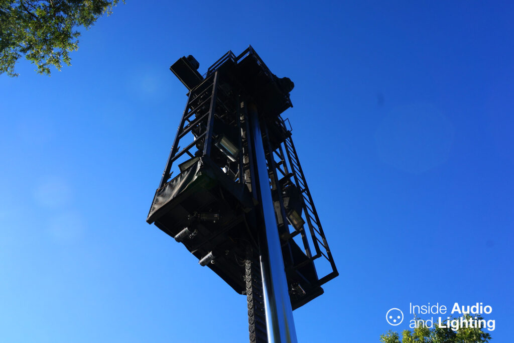 A large lighting tower for Fantasmic!